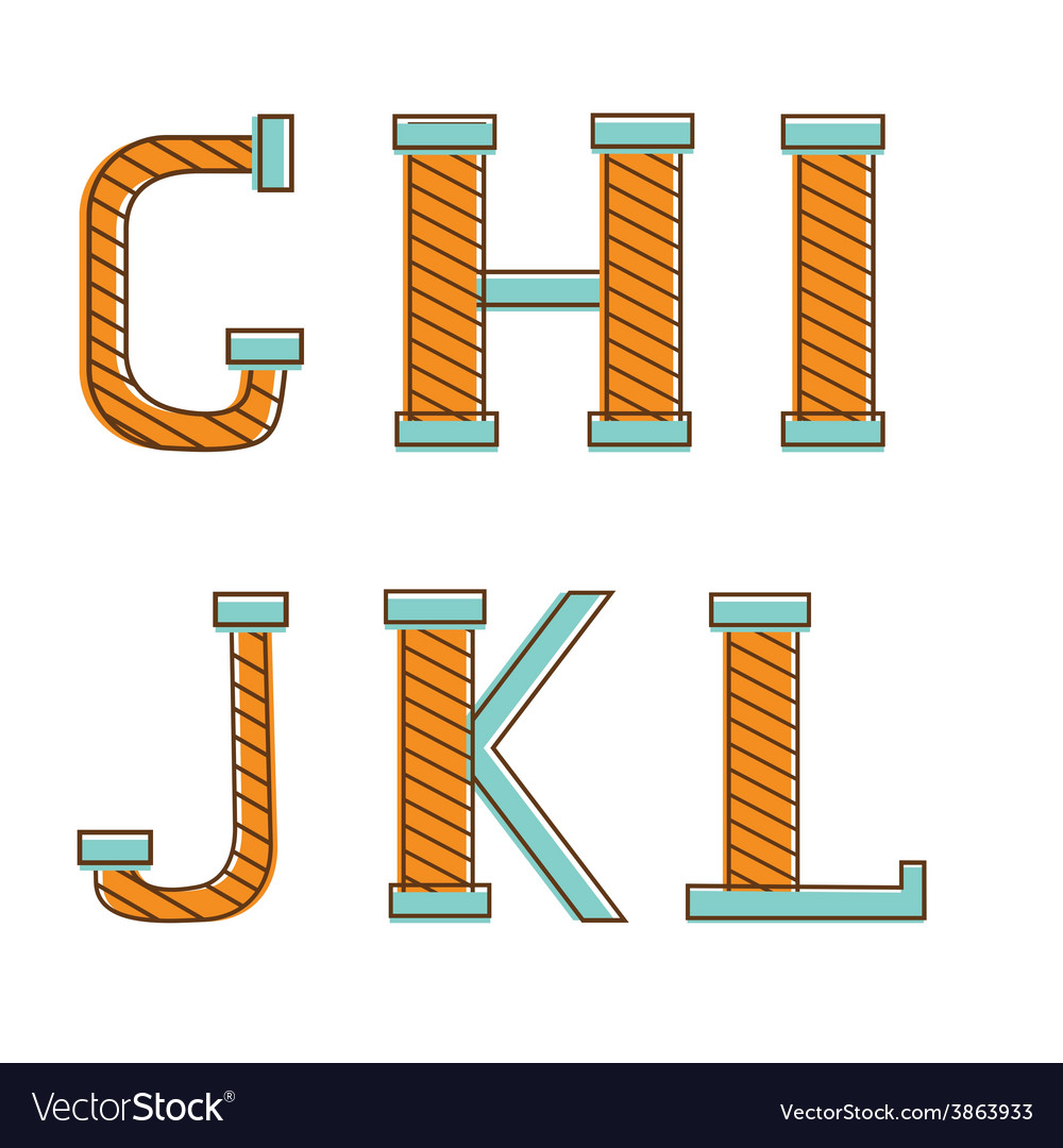 Colorful alphabet letters gh i j k l