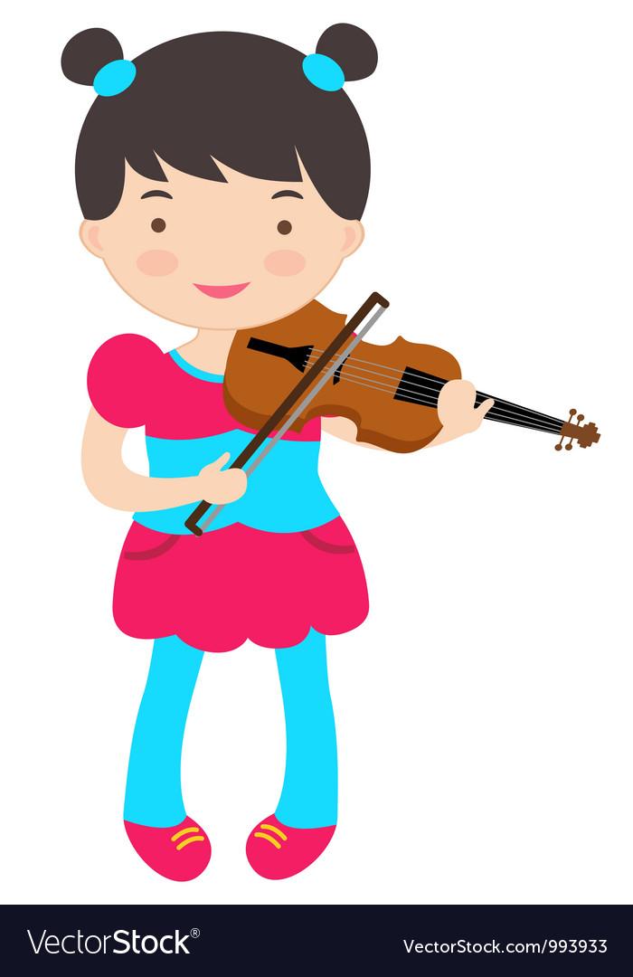 Cute violinist vector image