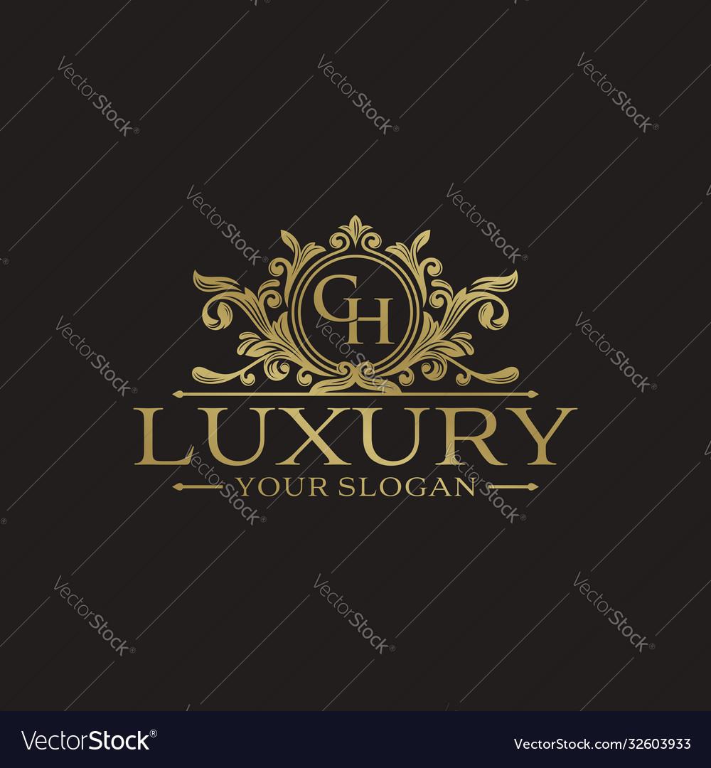 Golden luxury logo design template