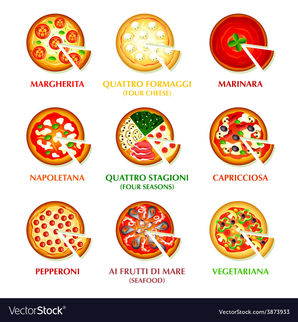 Italian pizza icons