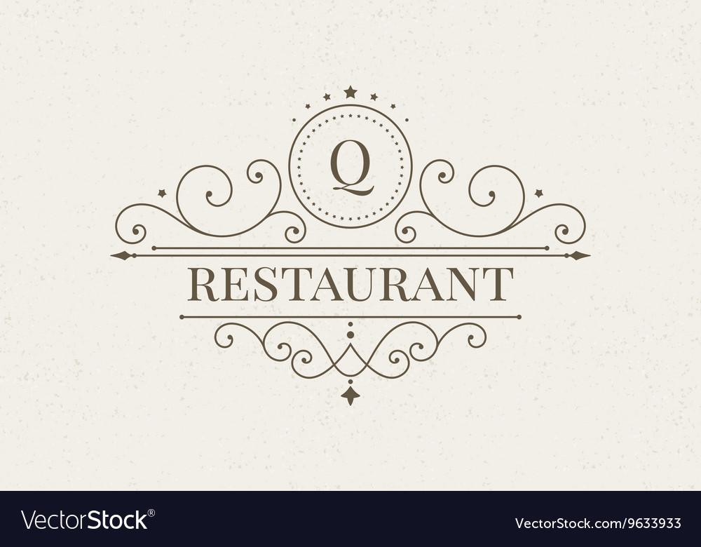 Luxury logo and monogram line art template