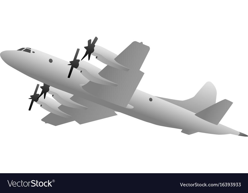 Naval military patrol aircraft vector image