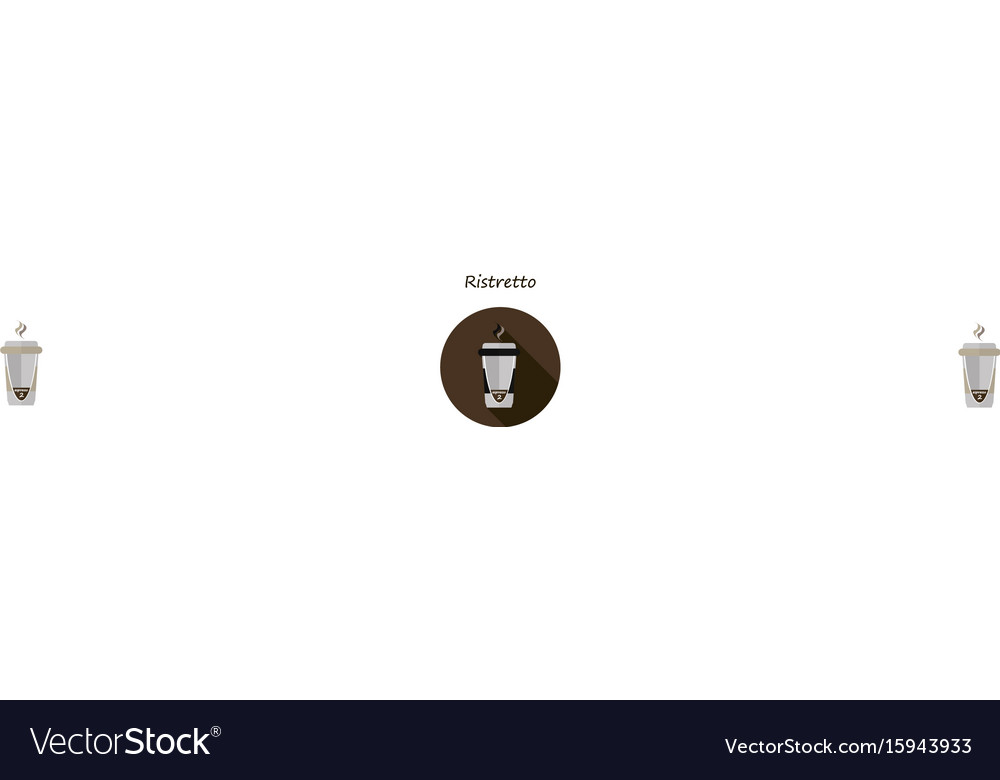 Ristretto coffee in a paper cup vector image