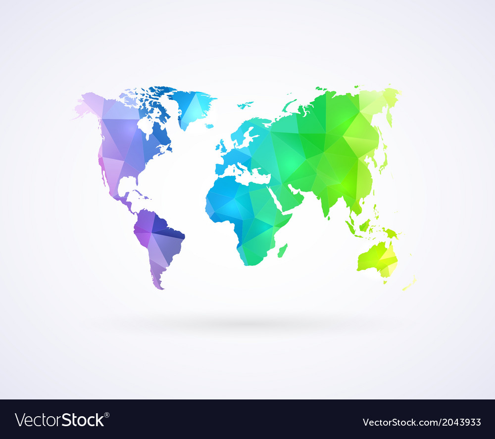 World Map Of Rainbow Color Royalty Free Vector Image