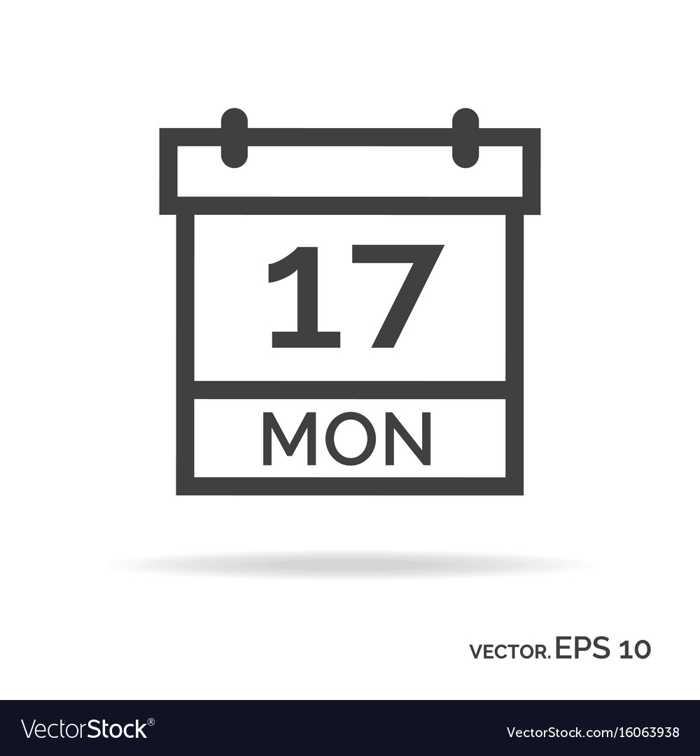 Calendar outline icon black color vector image
