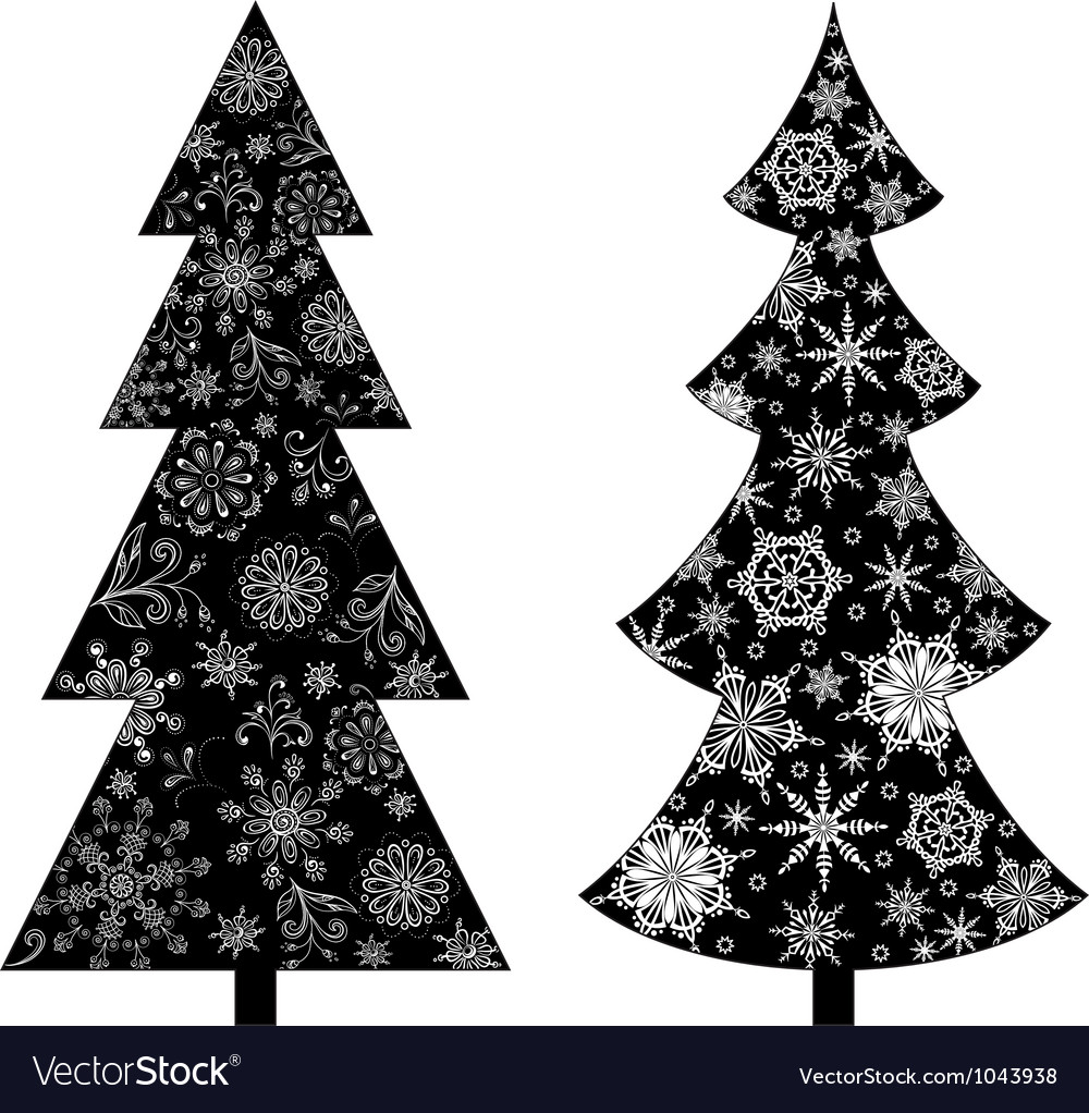 Christmas Trees Silhouette.Christmas Trees Silhouette