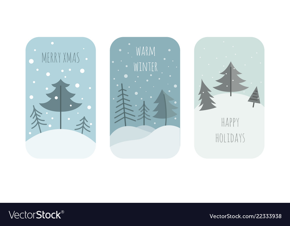 Cute winter holiday sticker icon set elements for