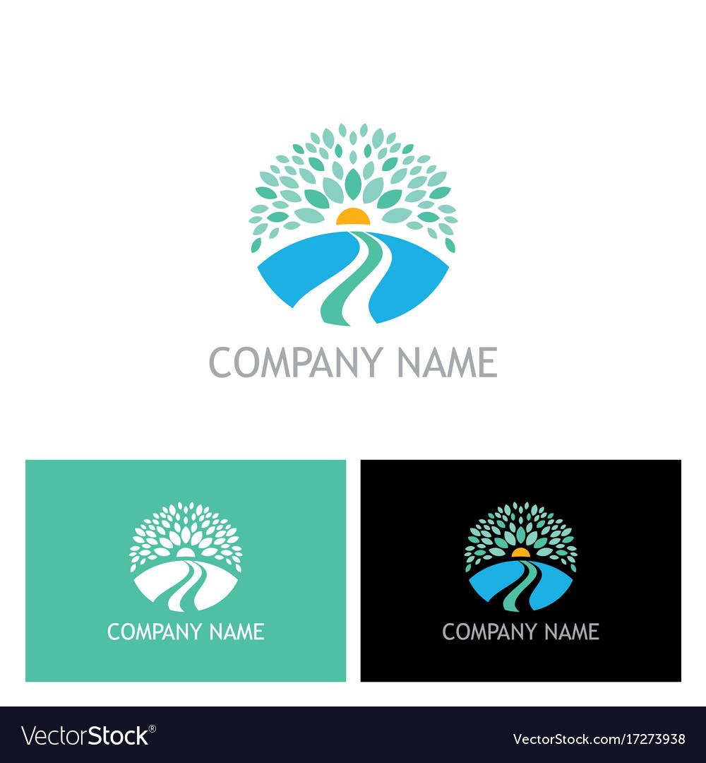 Nature landscape ecology logo