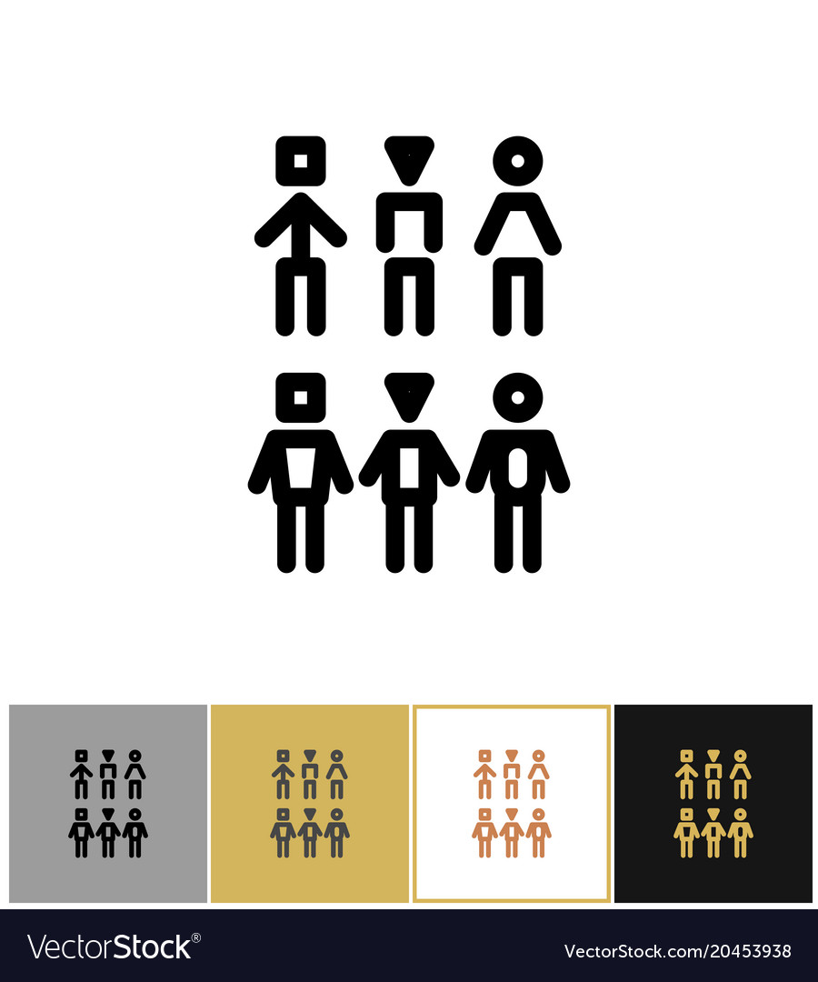 People icons human persons or customer symbols