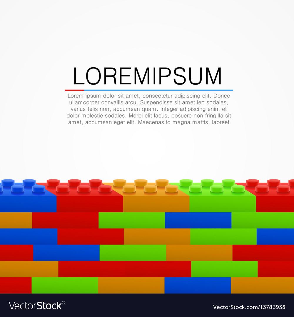 Plastic building blocks wall