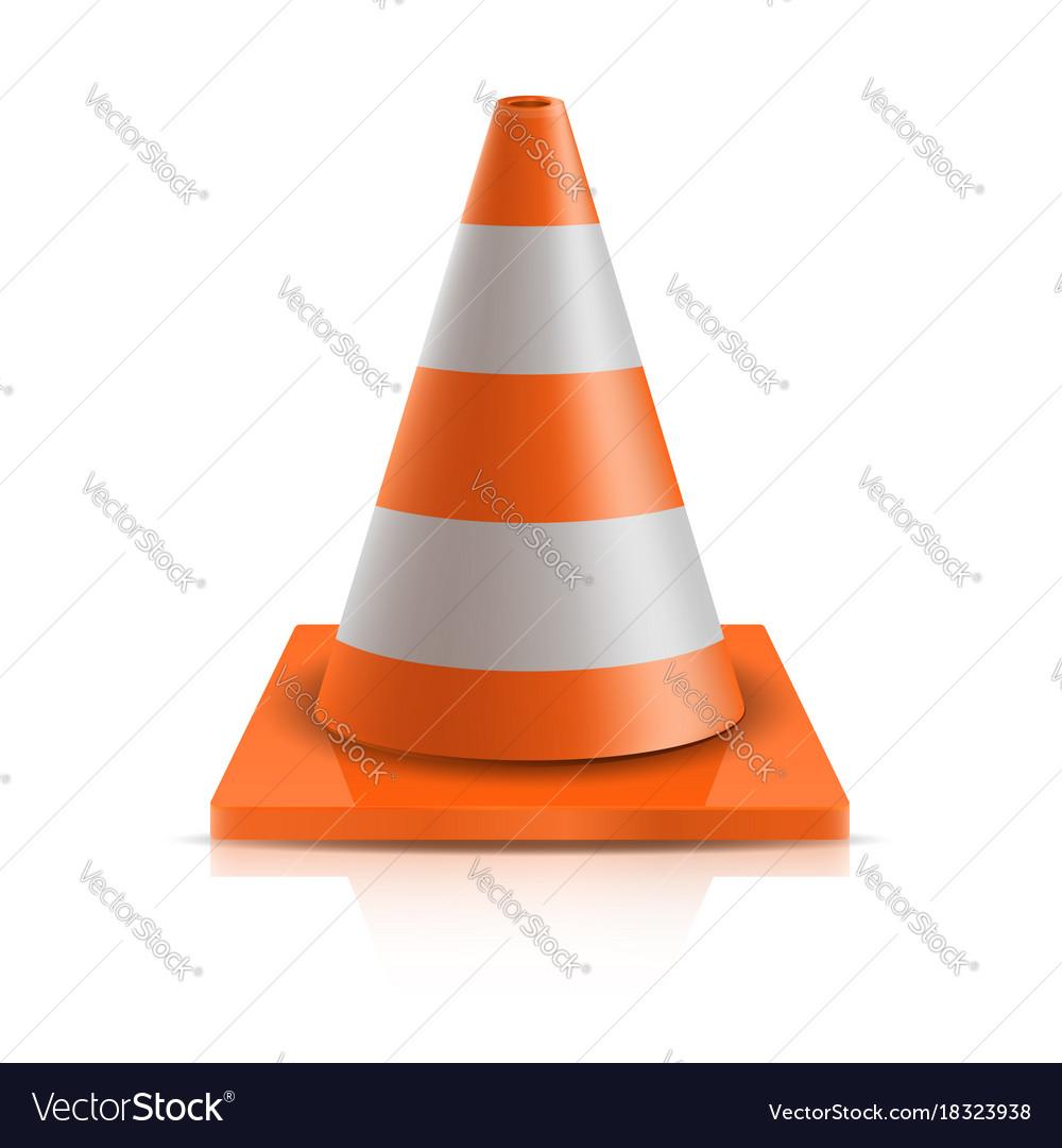 Road cone - repair vector image