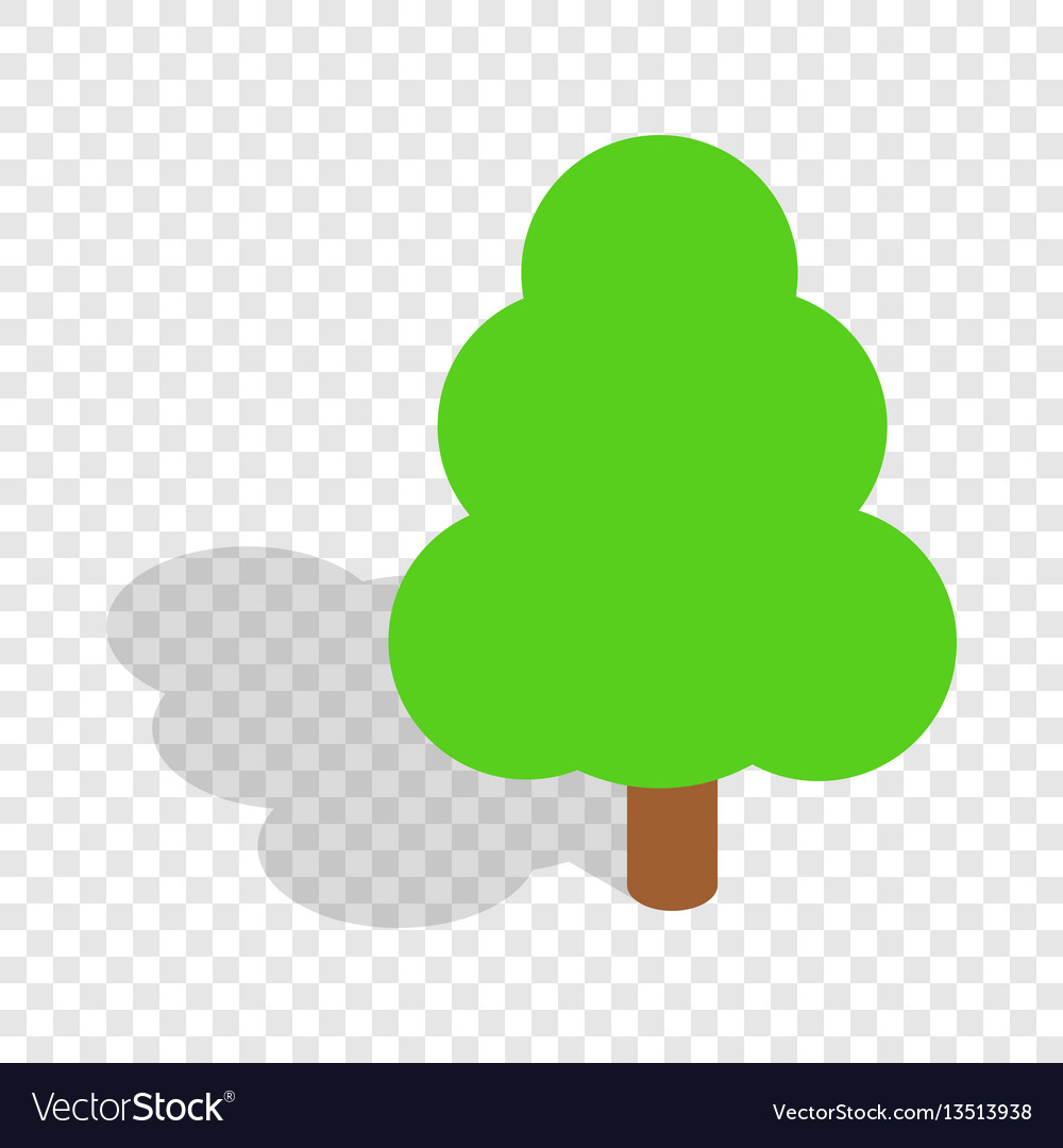 Tree isometric icon vector image