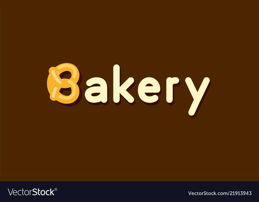 Baker logo with pretzel roll - emblem