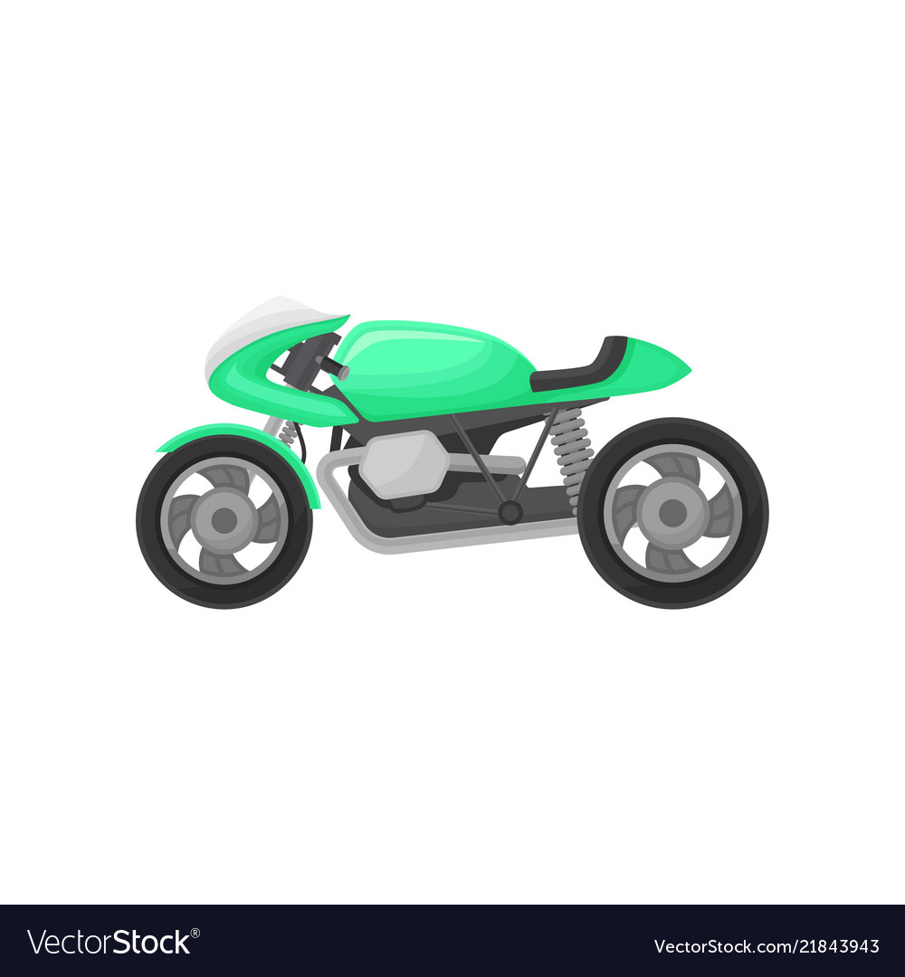 Bright green motorcycle modern sport bike two