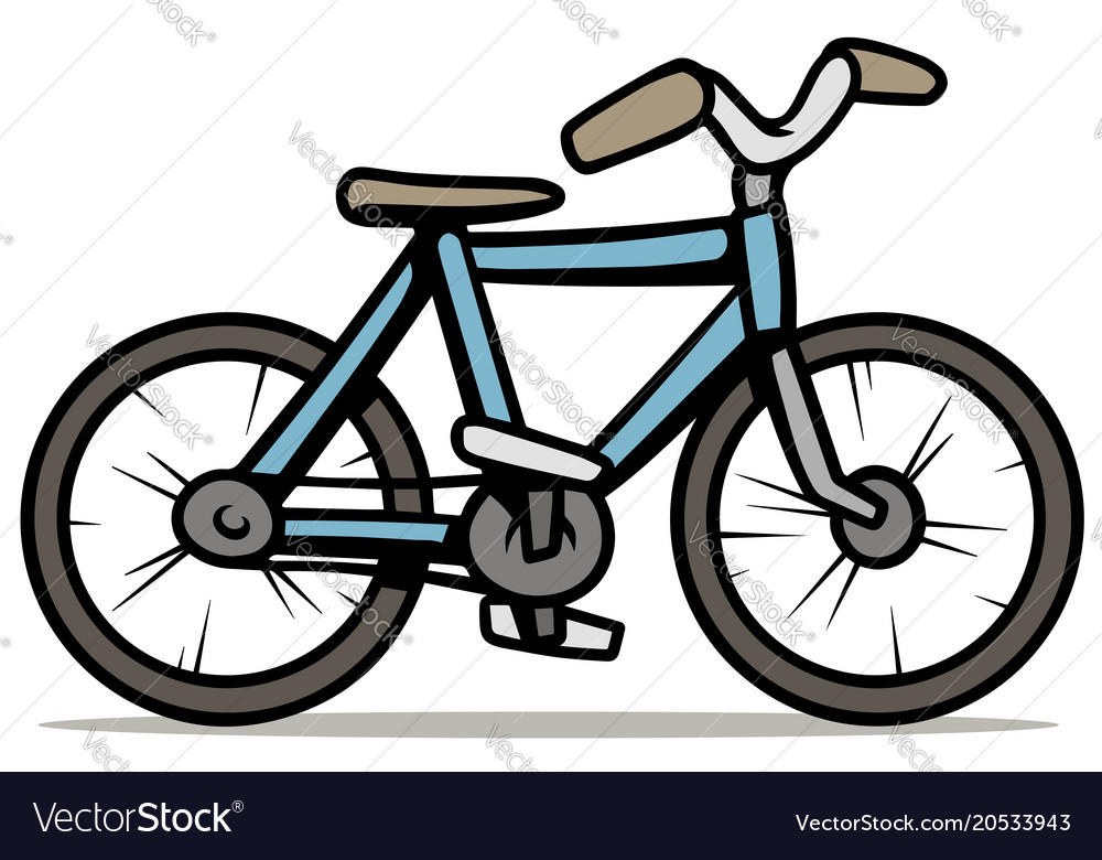 cartoon blue bicycle isolated on white background vector image rh vectorstock com vector bicycle clip art free vector vector bicycle playing cards
