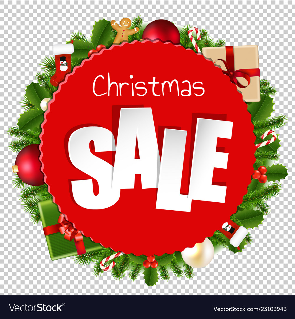 Christmas Graphics Transparent.Christmas Sale Banner Transparent Background