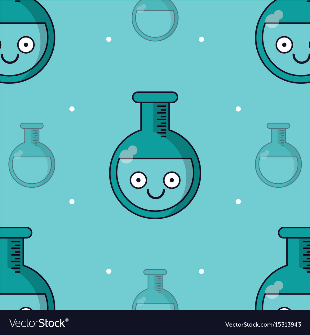 Colorful background with pattern of test tube vector image