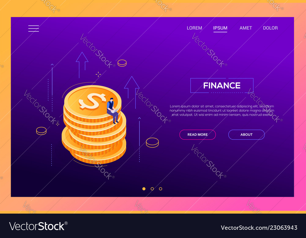 Finance concept - modern isometric web