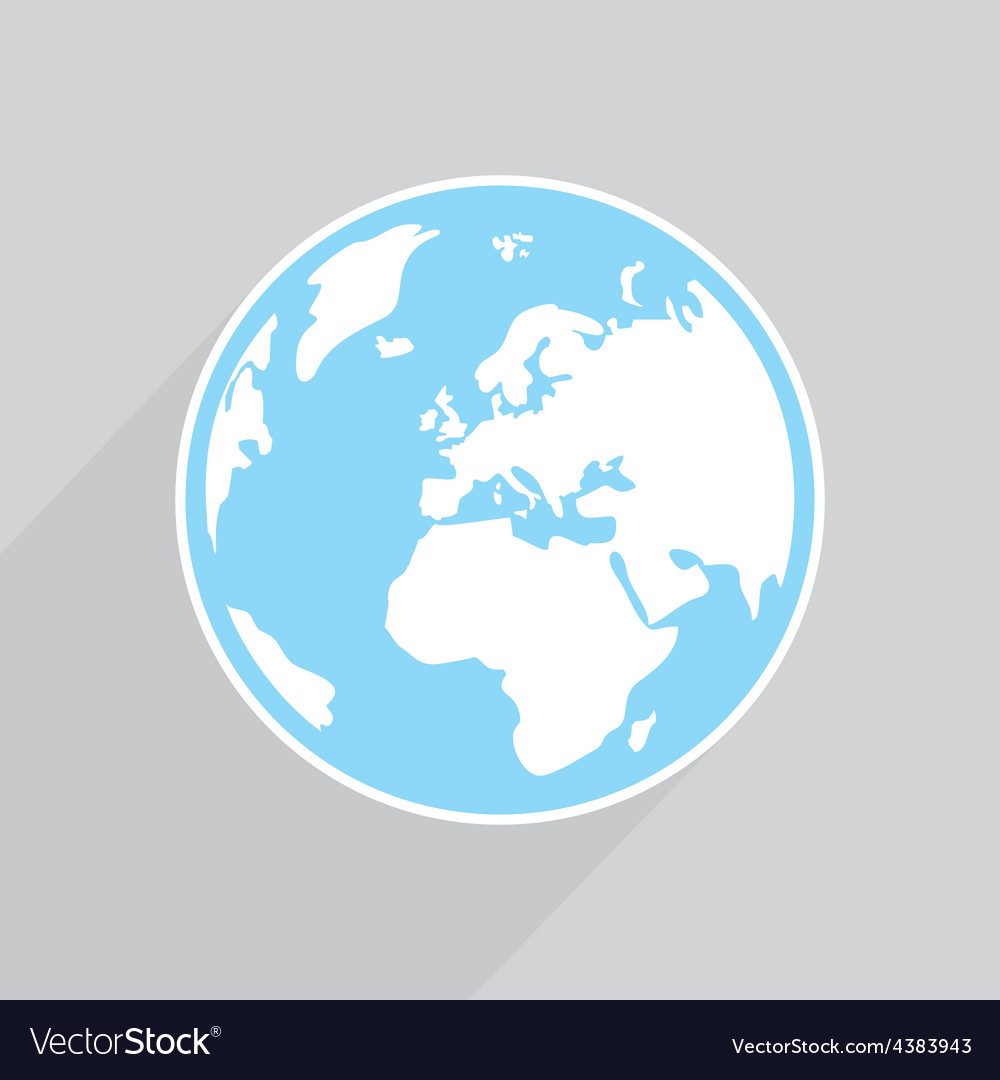 Hand drawn planet earth on grey background vector image