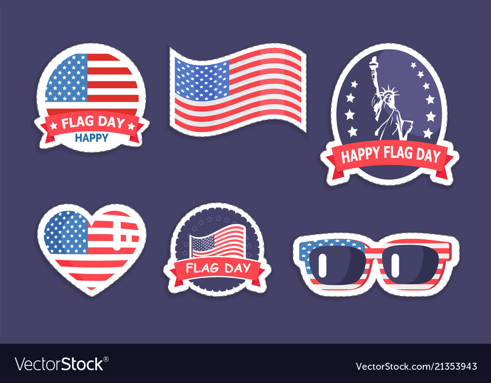 Happy flag day collection