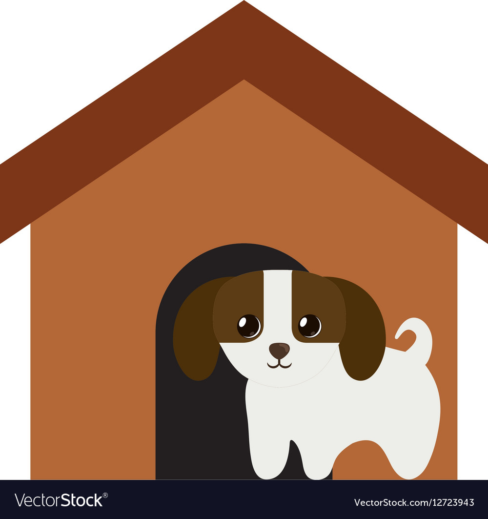 Puppy domestic mammal brown house vector image