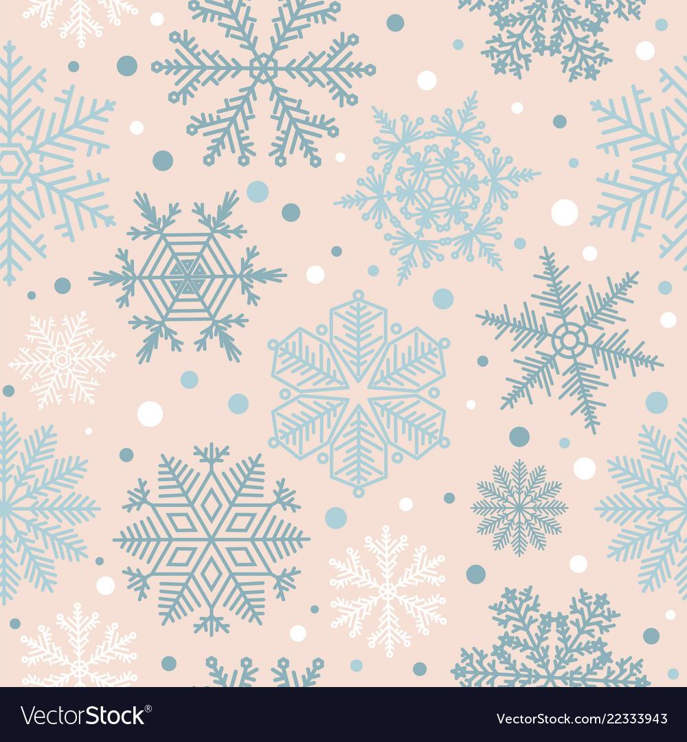Snowflake seamless pattern vintage winter