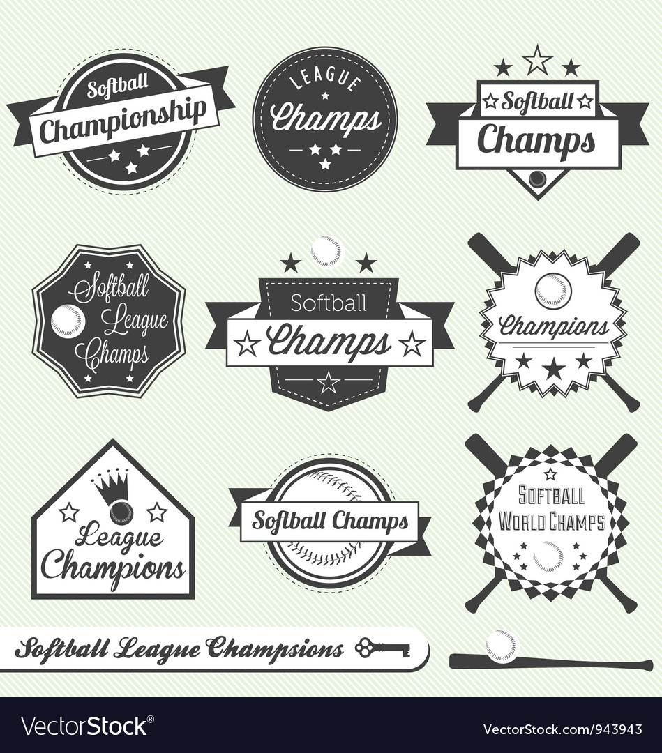 Softball Champs Labels