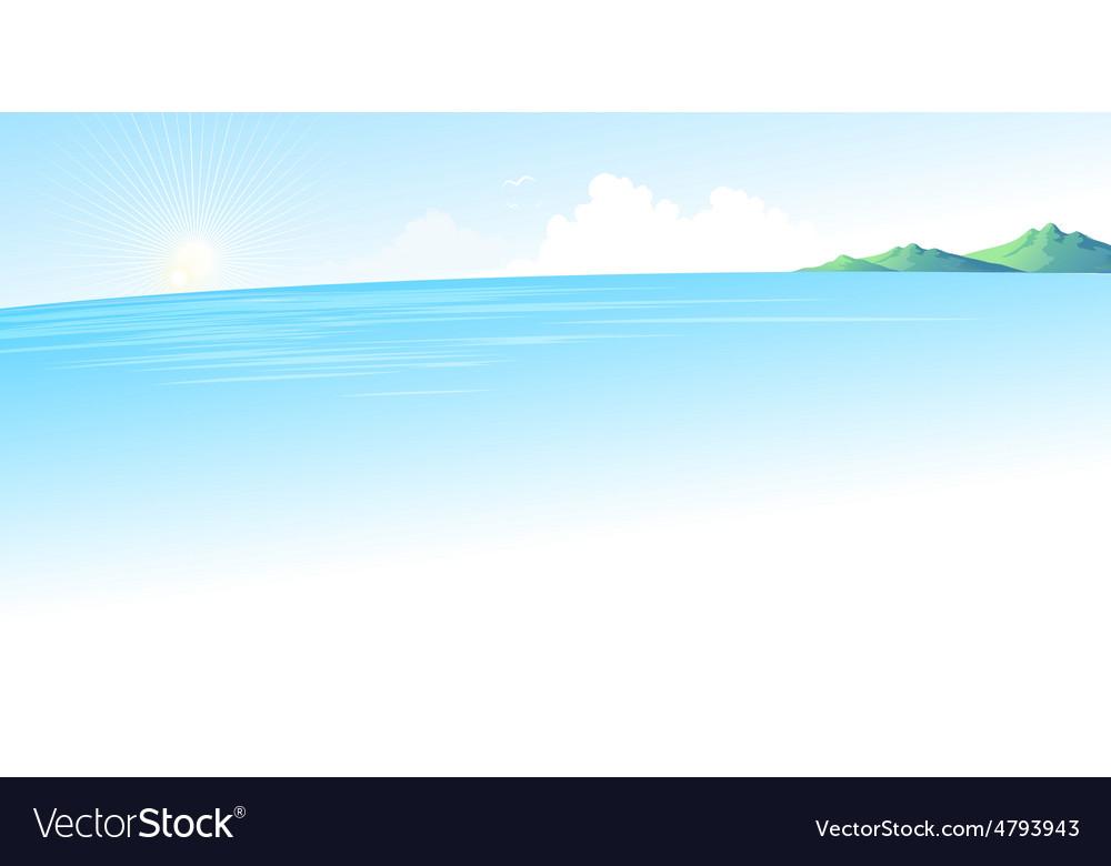 Summer blue sea landscape