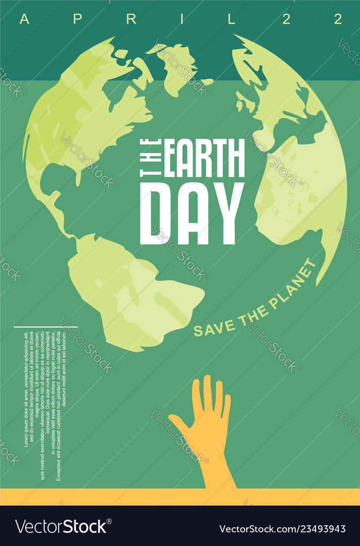 The earth day poster design