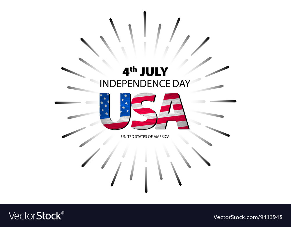 4th of July independence day background vector image