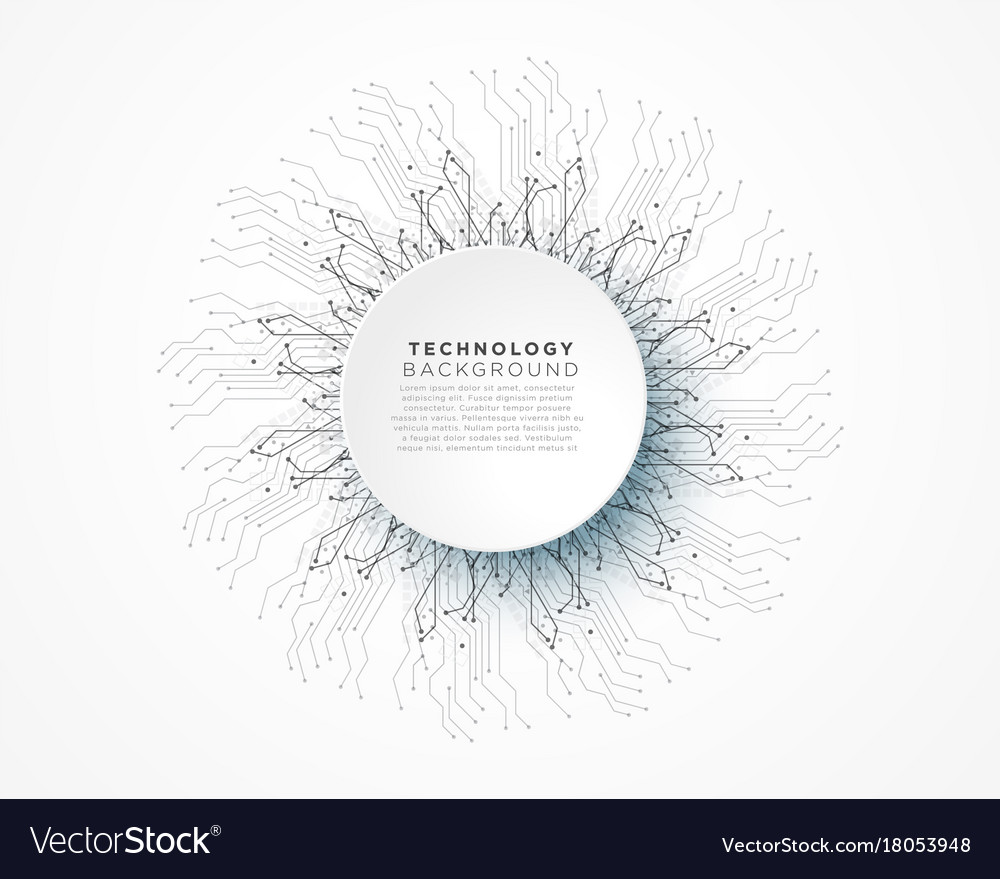 Abstract digital technology network lines