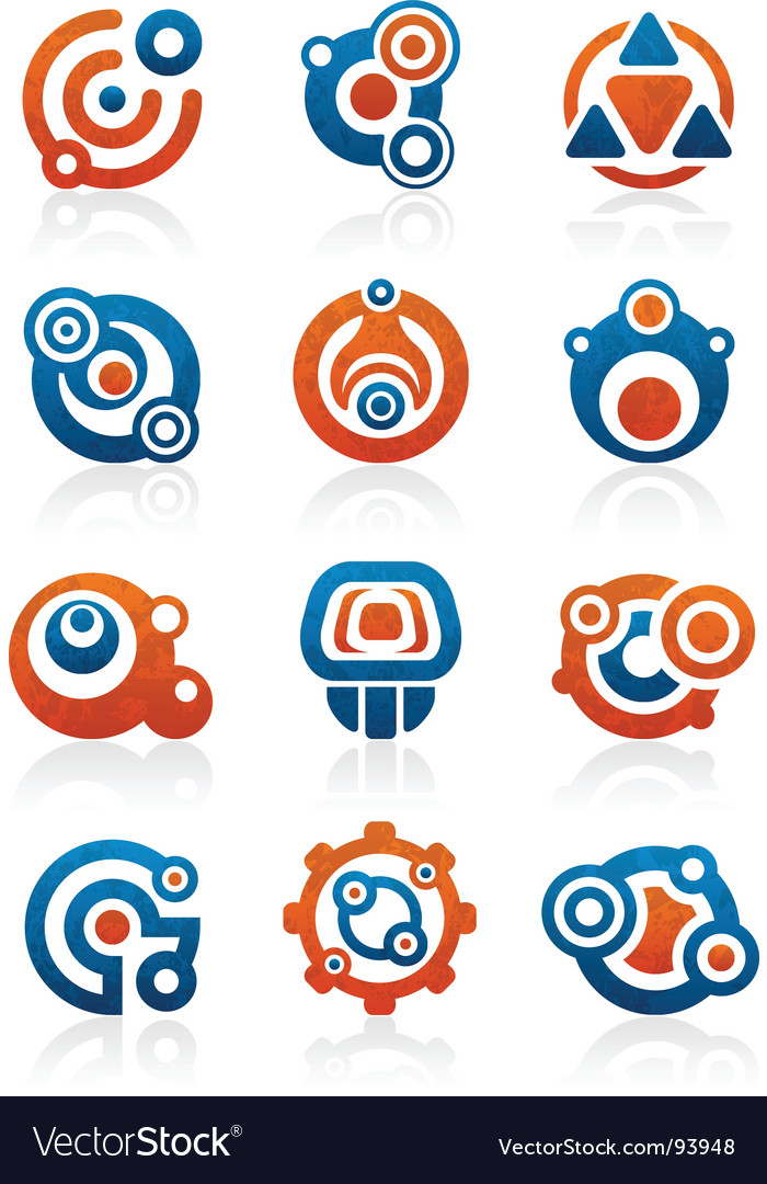 Abstract tribal icons and symbols vector image