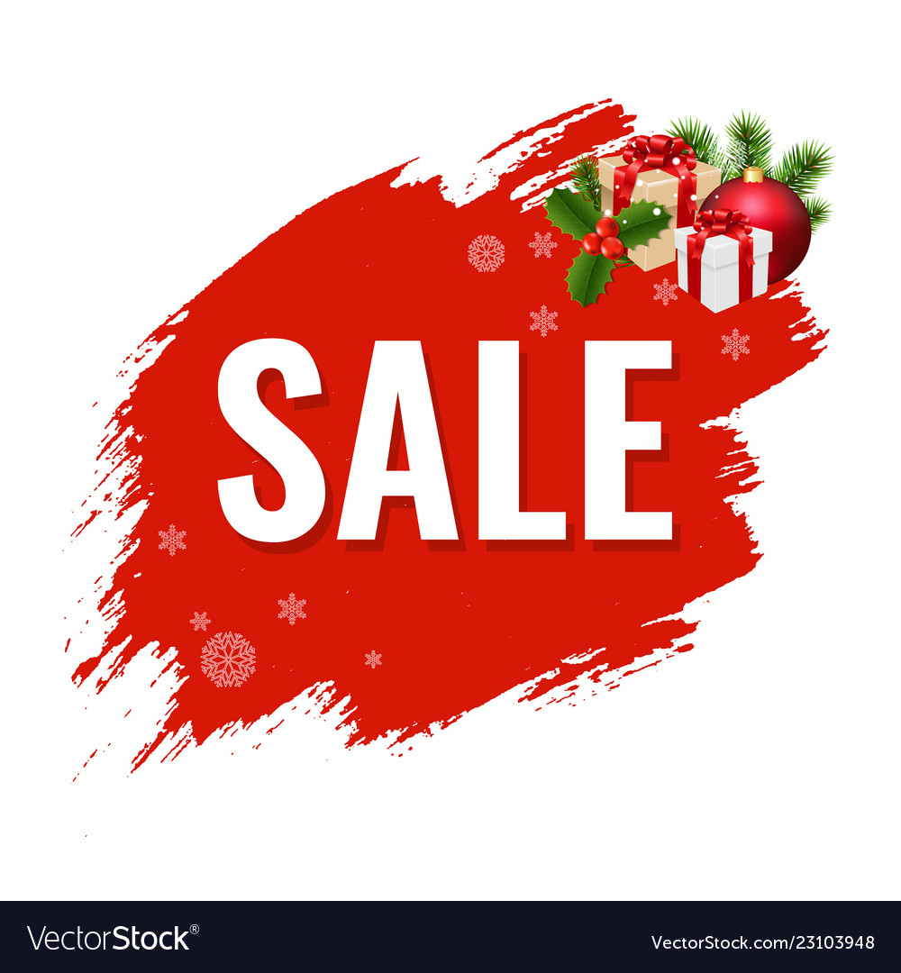 Christmas sale with blob
