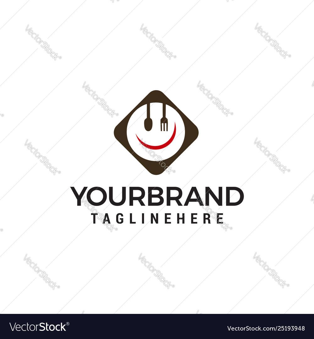 Logo cutlery design concept template