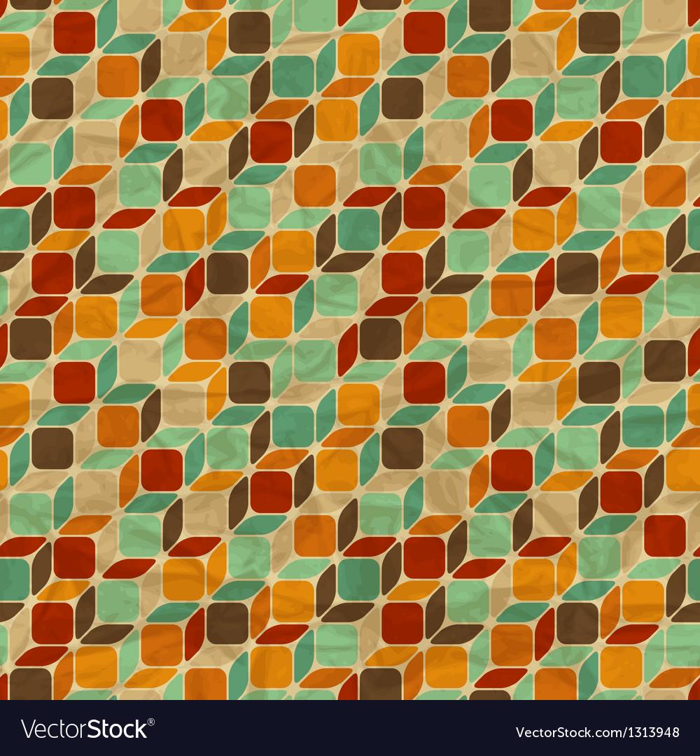 Seamless retro geometric pattern
