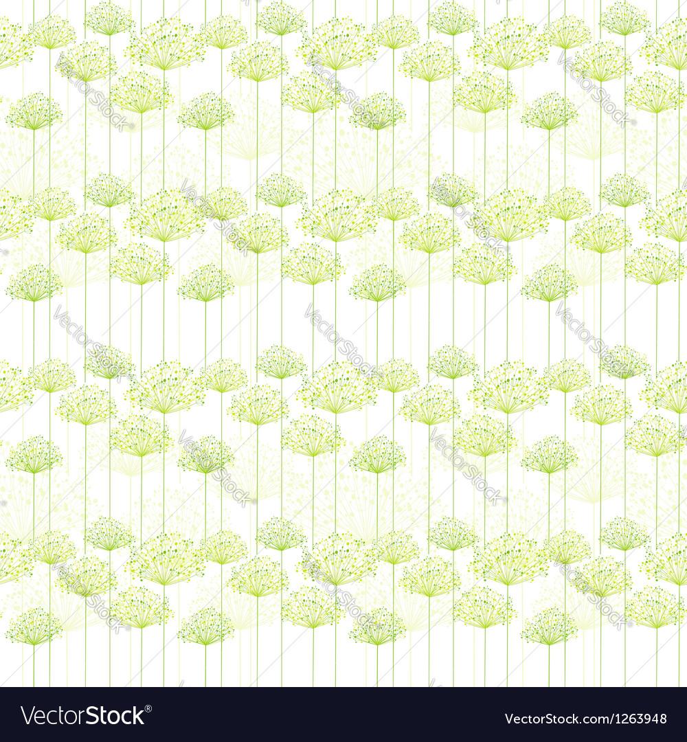 Springtime Dandelion Seamless Pattern