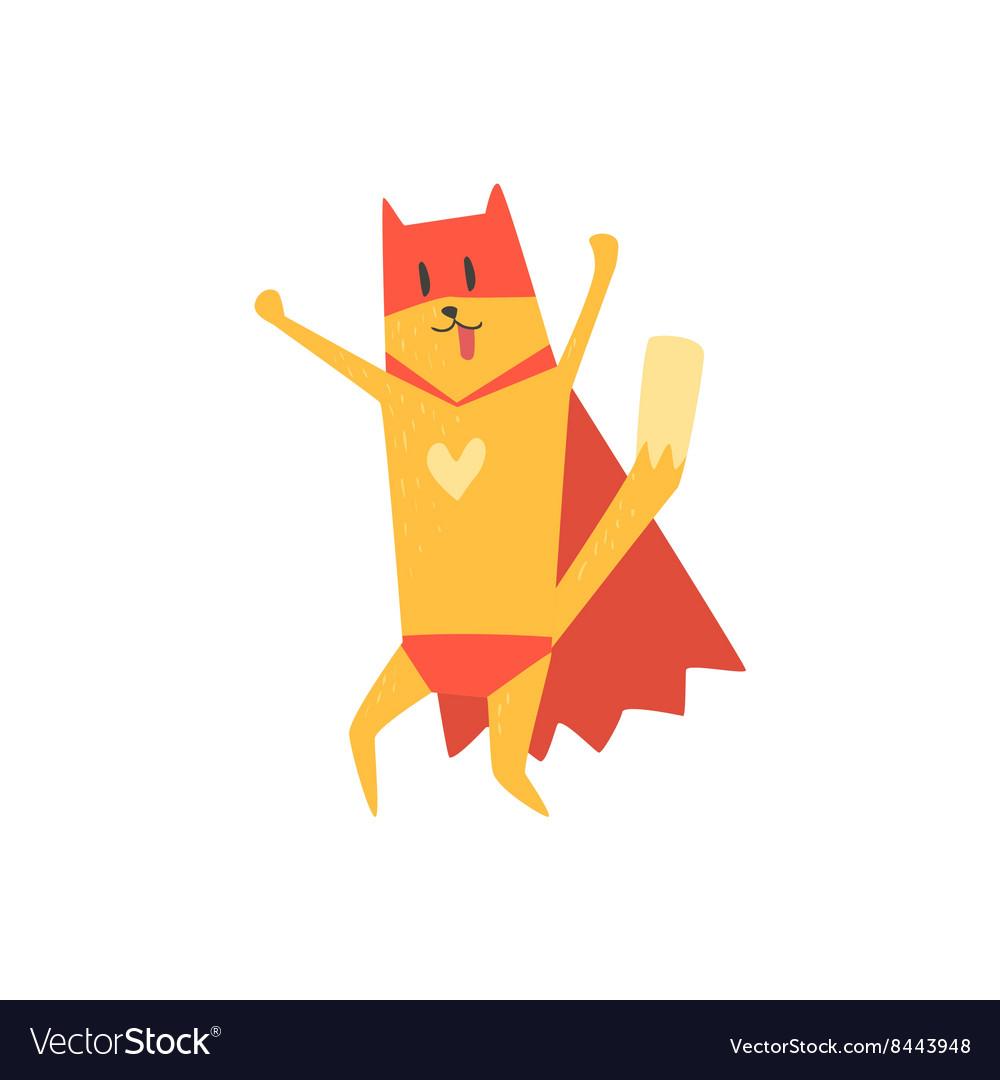 Super Hero Cat Cheering vector image