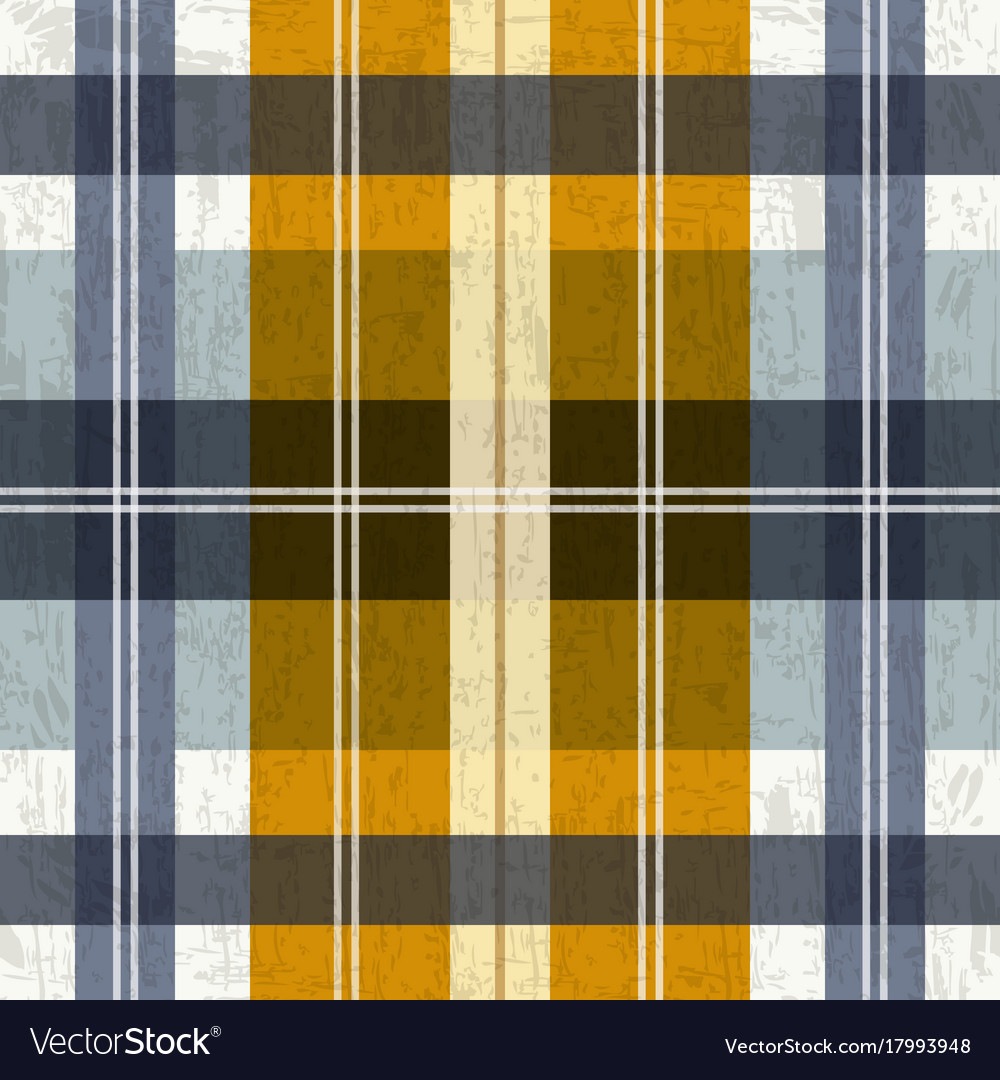 Tartan plaid pattern in blue and yellow