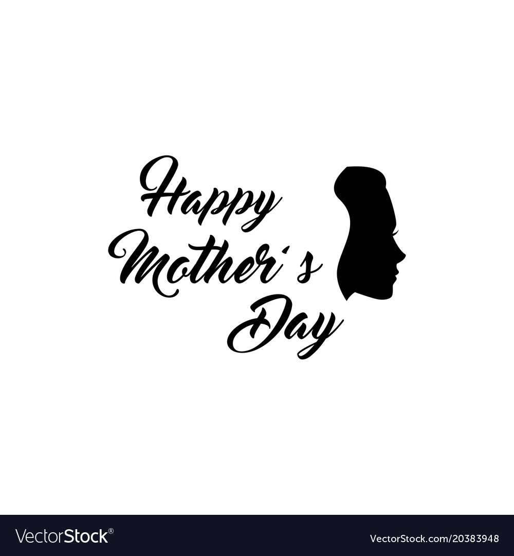 Woman s silhouette mothers day greeting card