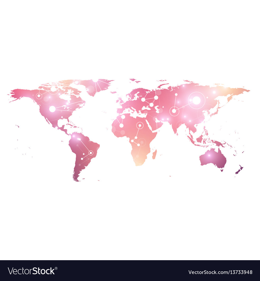 World map geometric graphic background vector image