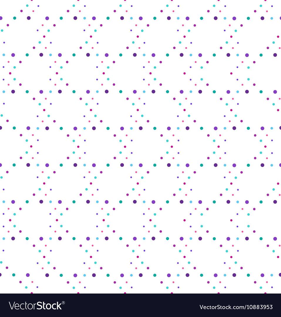 Abstract geometric polka dot seamless pattern