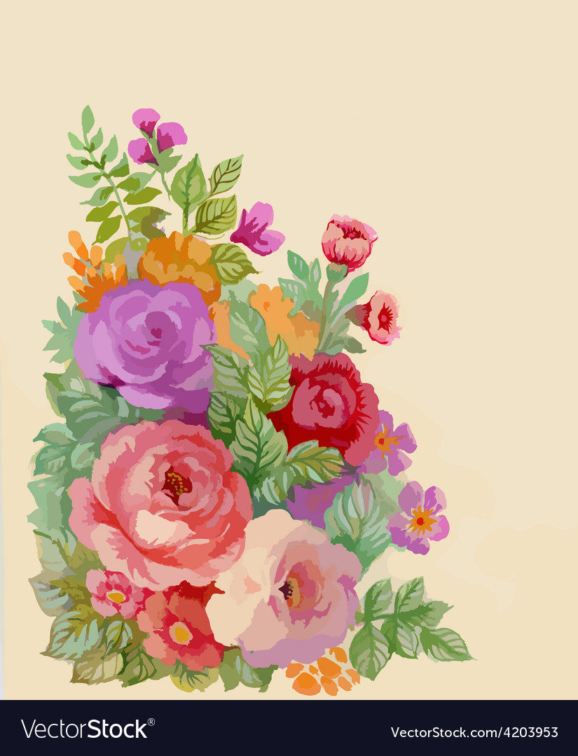 Artistic Flower Design Royalty Free Vector Image