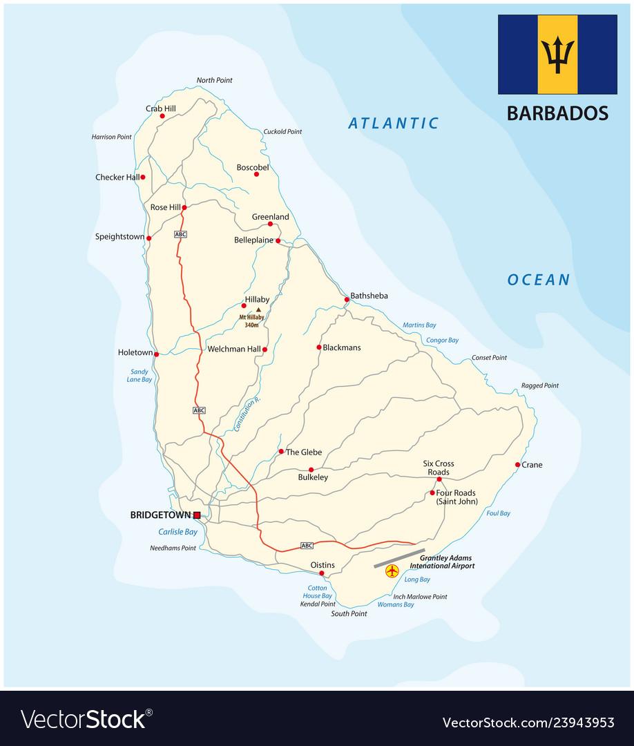 Barbados road map with flag on flag of barbados, zimbabwe map, caribbean sea, grantley adams international airport, saint thomas, cayman islands map, barbados dollar, british virgin islands, bonaire island map, west indies map, americas map, greater antilles map, the bahamas, turks and caicos islands, bahamas map, caribbean map, barbadian people, carribean map, jamaica map, virgin islands map, cuba map, trinidad and tobago, tanzania map, puerto rico map, windward islands, haiti map, antigua and barbuda, belize map, aruba map, united states map, saint vincent, maldives island map, world map, saint vincent and the grenadines,