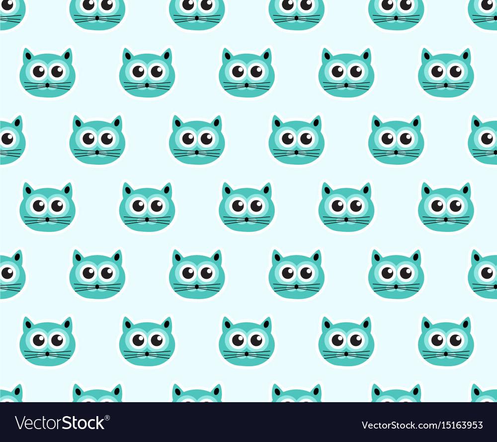 Cat seamless pattern fashionable modern endless