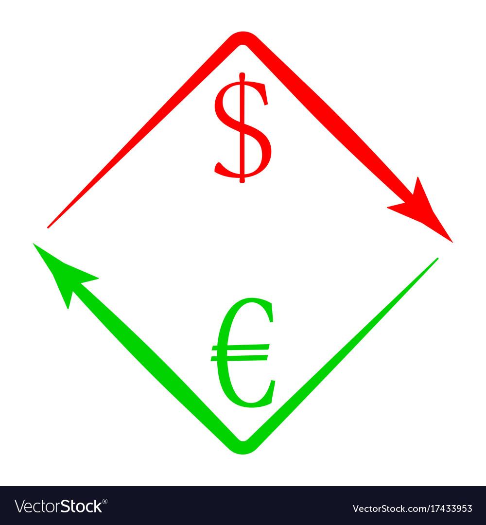 Usd Eur Royalty Free Vector Image
