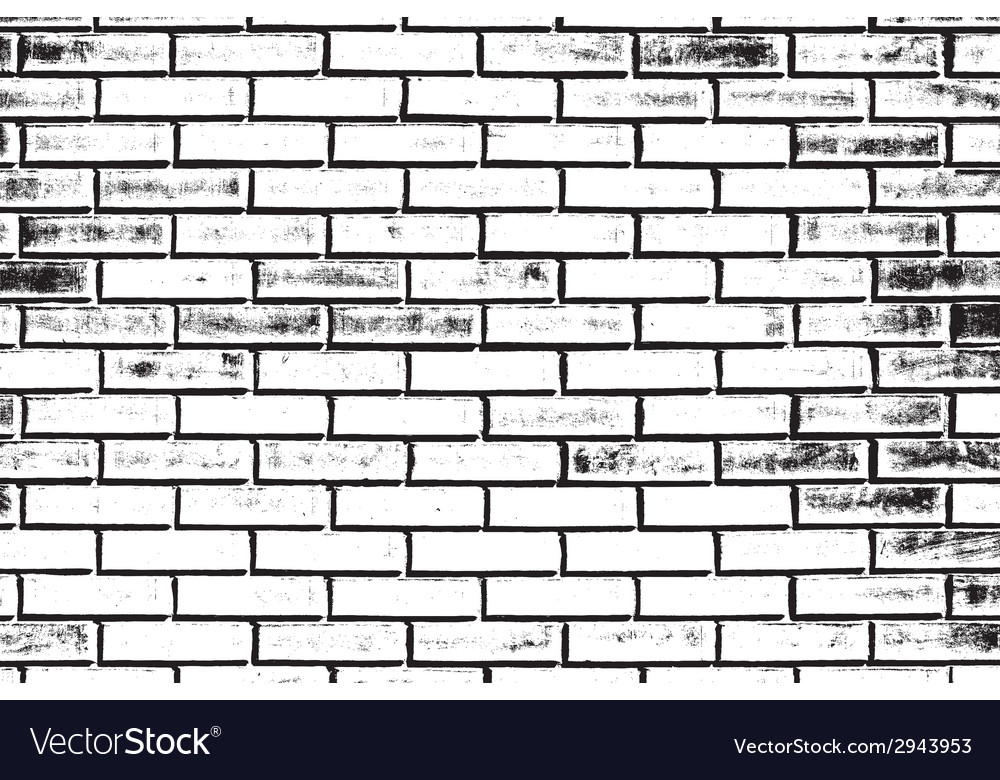 Good Decorative Brickwall Silhouette Vector Image