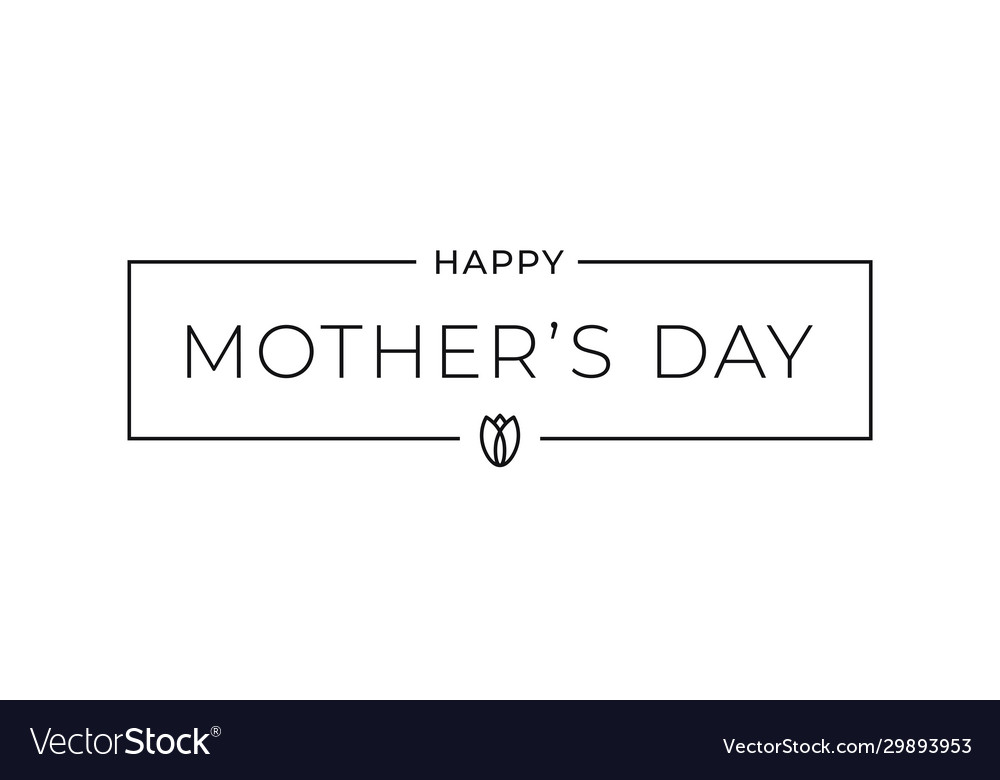 Mothers day sign mothers day card on white
