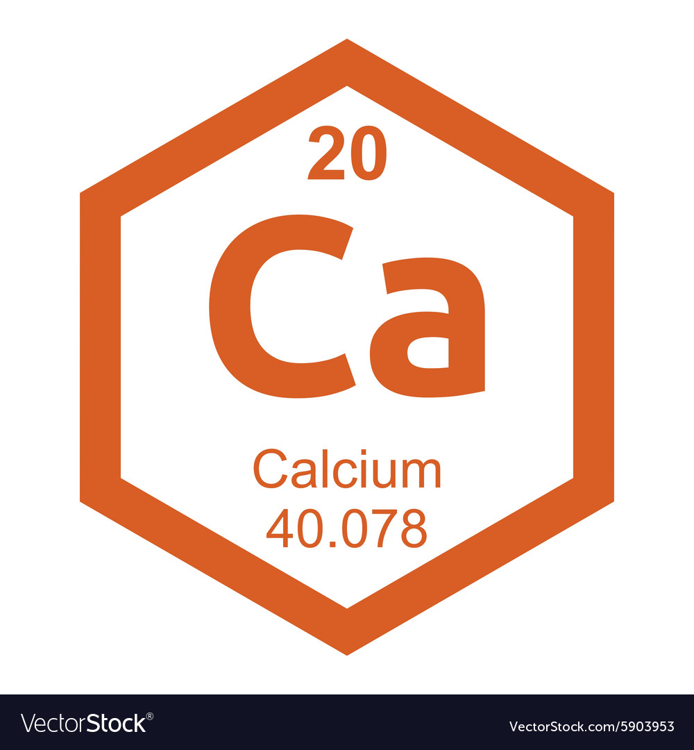 Periodic Table Calcium Royalty Free Vector Image