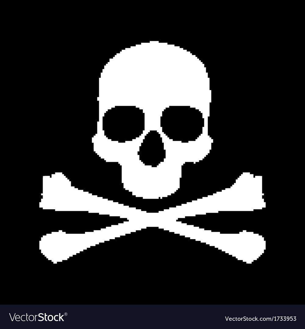 Pixel Skull And Bones Royalty Free Vector Image