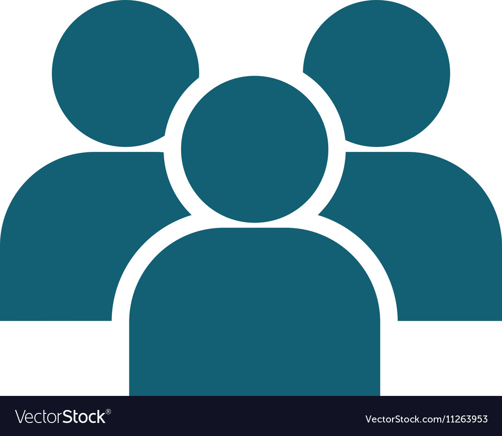 Teamwork silhouette isolated icon vector image